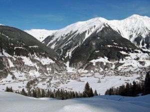 Skiing in Davos-Klosters, Switzerland