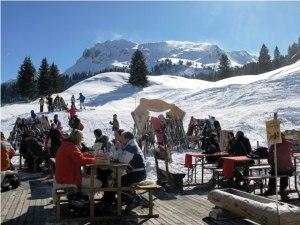Lunch break in Davos-Klosters