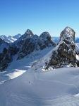 The ski peaks in St. Anton, Austria