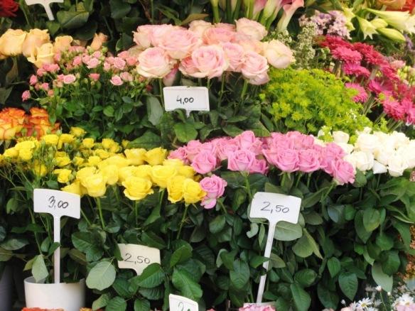 Flowers in market in Vienna, Austria