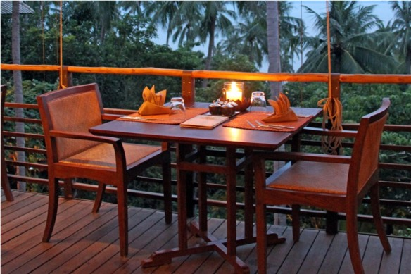Healthy dinner at Kamalaya resort, Koh Samui, Thailand