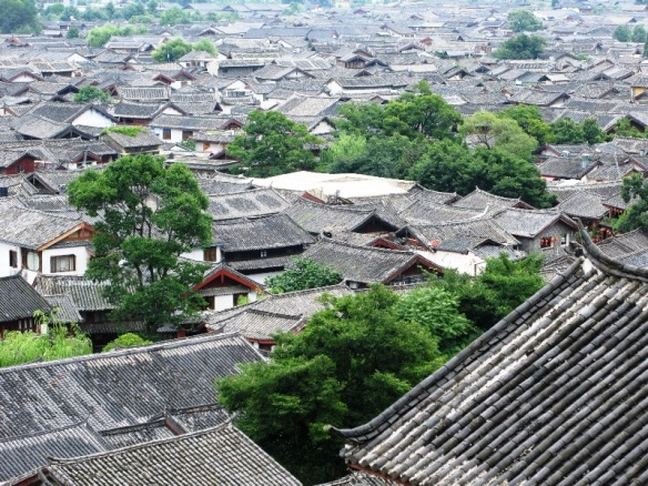 Roofs in the Lijiang old town