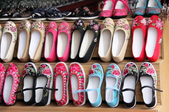 Shoes at the street market