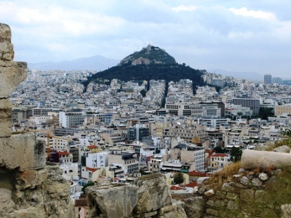 The view from the top of Acropolis