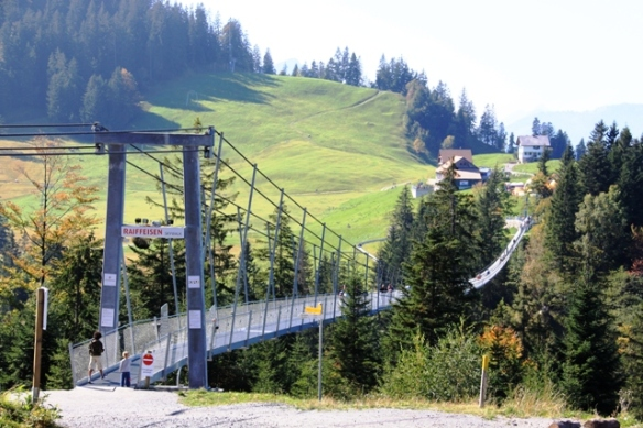 Skywalk in Sattel - the longest suspension bridge in Europe