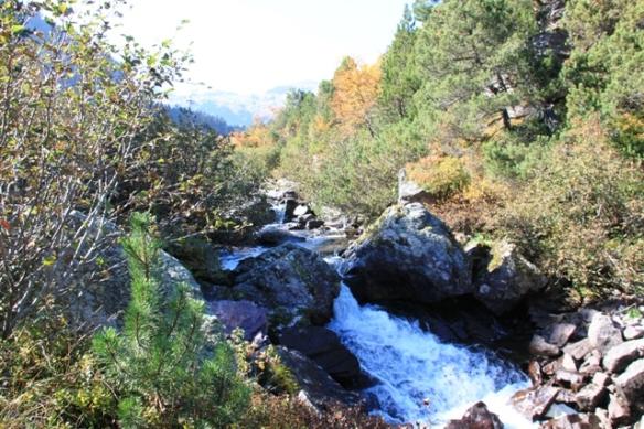 Murgsee waterfall