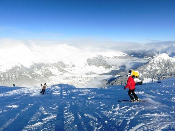 Skiing in Davos Jakobshorn