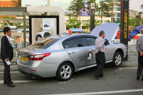 Taxi driver in Seoul