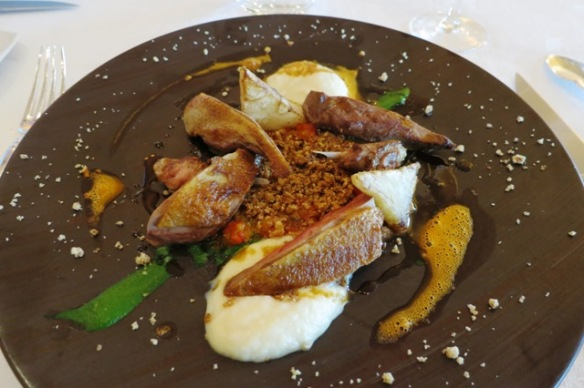 La Côte Saint Jacques - main course with guineafowl