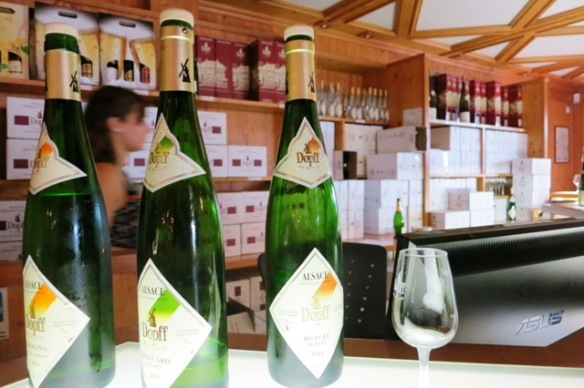 Wine shopping in Riquewihr, Alsace