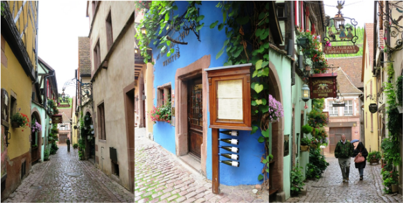 At the heart of Riquewihr, France