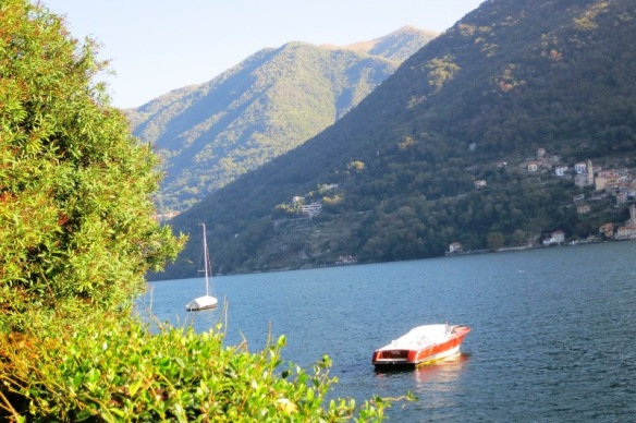 Lake Como in autumn colours